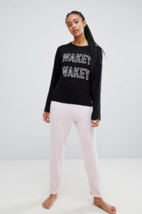 Adolescent Clothing - Wakey Wakey - Pyjamaset mit T-Shirt und Shorts - Mehrfarbig - Farbe:Mehrfarbig