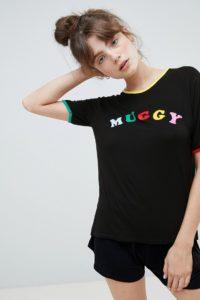 Adolescent Clothing - Muggy - Schlafanzugset mit T-Shirt und Shorts - Schwarz - Farbe:Schwarz