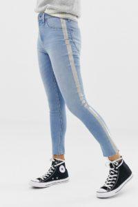 Abercrombie & Fitch - Enge Hose mit hohem Bund