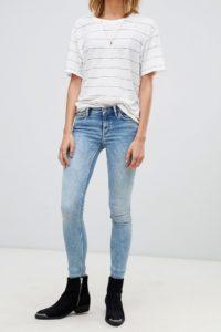 AllSaints - Mast - Enge Jeans in hellem Indigoblau - Blau - Farbe:Blau