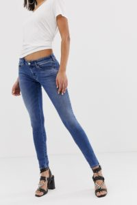 Diesel - Enge Jeans mit niedrigem Bund - Blau - Farbe:Blau