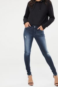 Diesel - Slandy - Skinny-Jeans mit mittelhohem Bund und Abnutzungen - Blau - Farbe:Blau