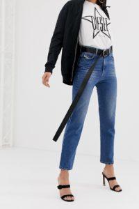 Diesel - Mom-Jeans mit Vintage-Design und hoher Taille - Blau - Farbe:Blau