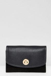 Accessorize - Lederportemonnaie mit Umschlag - Schwarz - Farbe:Schwarz