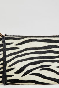 Accessorize - Claudia - Umhängetasche aus Leder mit Zebramuster - Mehrfarbig - Farbe:Mehrfarbig