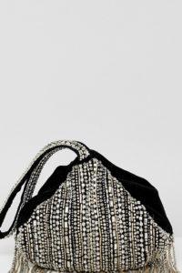 Accessorize - Tasche mit Fransenverzierung - Silber - Farbe:Silber