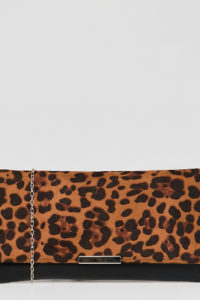 Accessorie - Kelly - Clutch mit Leopardenmuster - Mehrfarbig - Farbe:Mehrfarbig