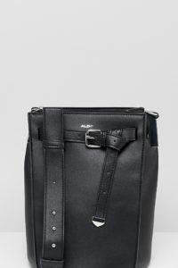 ALDO - Veniano - Schwarze Beuteltasche mit Schnallenriemen vorn - Schwarz - Farbe:Schwarz