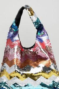 Accessorize - Handtasche mit Pailletten in Regenbogenfarben - Mehrfarbig - Farbe:Mehrfarbig