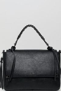 ALDO - Bignomia - Schwarze Umhängetasche mit stahlgrauen Verzierungen - Schwarz - Farbe:Schwarz