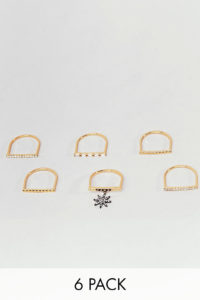 Accessorize - Limited Edition - Goldene Ringe im Multipack - Gold - Farbe:Gold