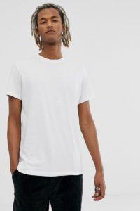 Weekday - Alan - Weißes T-Shirt - Weiß - Farbe:Weiß