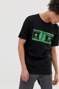 Weekday - Frank Money - T-Shirt - Schwarz - Farbe:Schwarz