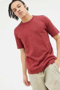 Weekday - Grinko - Rotes T-Shirt - Rot - Farbe:Rot