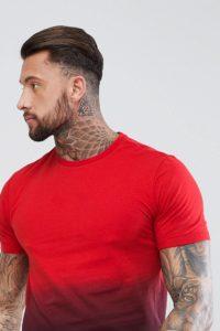 YOURTURN - Batik-T-Shirt in Rot - Rot - Farbe:Rot