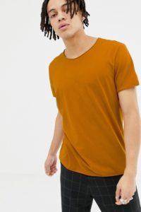 Weekday - Alan - T-Shirt in Orange - Orange - Farbe:Orange