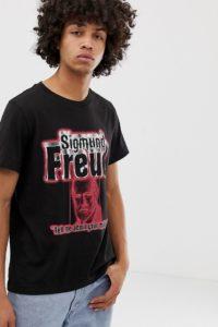 Weekday - Pictor Freud - T-shirt - Schwarz - Farbe:Schwarz