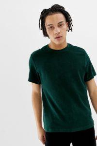 Weekday - Grünes Frottee-T-Shirt - Grün - Farbe:Grün