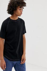 Weekday - Slap - Schwarzes T-Shirt - Schwarz - Farbe:Schwarz