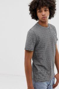 Weekday - Sin - Gestreiftes T-Shirt in Grau - Schwarz - Farbe:Schwarz