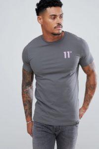 11 Degrees - Muskelshirt in Grau mit Logo - Grau - Farbe:Grau