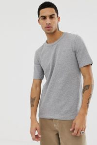 Weekday - Grinko - T-Shirt in Grau - Grau - Farbe:Grau