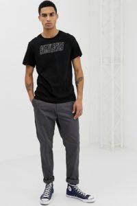 Weekday - Pictor Simulation - T-Shirt - Schwarz - Farbe:Schwarz