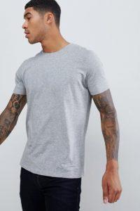 HUGO - Dolive-U - Graues T-Shirt mit Logo - Grau - Farbe:Grau