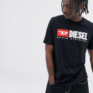 Diesel – T-Just-Division – Schwarzes T-Shirt – Schwarz
