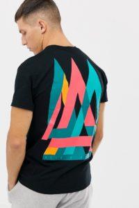 """A London - T-Shirt mit """"Also""""-Print hinten - Schwarz - Farbe:Schwarz"""