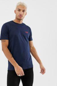 HUGO - Durned-U3 Reverse - Blaues T-Shirt mit kleinem Logo - Navy - Farbe:Navy