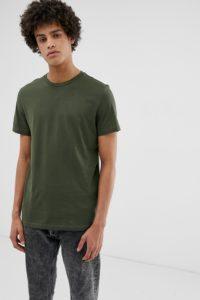 Weekday - Alan - T-Shirt in Khaki - Grün - Farbe:Grün