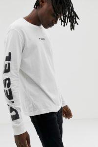Diesel - T-Joe - Langärmliges Shirt in Weiß - Weiß - Farbe:Weiß