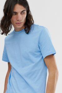 Weekday - Alan - Blaues T-Shirt - Blau - Farbe:Blau