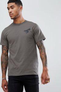 A London - T-Shirt mit Maskenprint hinten - Grün - Farbe:Grün