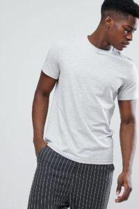 Weekday - Alan - Graues T-Shirt - Grau - Farbe:Grau