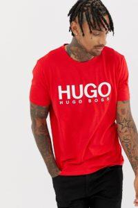 HUGO - Dolive-U2 - Rotes T-Shirt mit Logo - Rot - Farbe:Rot