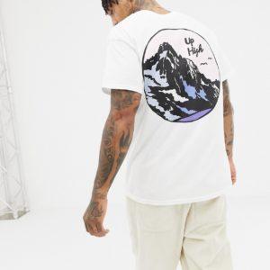 """New Love Club – T-Shirt mit """"Peak""""-Rückenaufdruck – Weiß"""