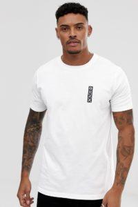 HUGO - Durni - Weißes T-Shirt mit kontrastierendem Logo auf der Brust - Weiß - Farbe:Weiß