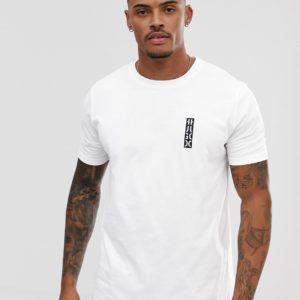HUGO – Durni – Weißes T-Shirt mit kontrastierendem Logo auf der Brust – Weiß
