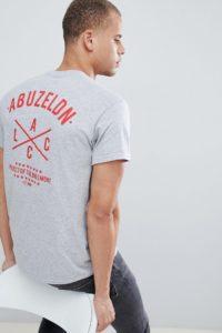 """A London - T-Shirt mit """"ALCC""""-Print hinten - Grau - Farbe:Grau"""