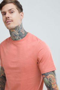 Pull&Bear - Basic-T-Shirt aus Bio-Baumwolle in Rosa - Rosa - Farbe:Rosa