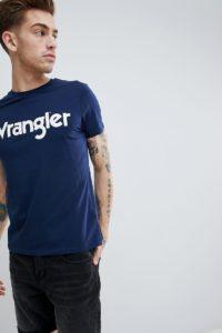 Wrangler - T-Shirt mit Logo - Navy - Farbe:Navy