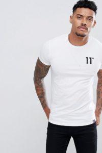11 Degrees - Muskelshirt in Weiß mit Logo - Weiß - Farbe:Weiß