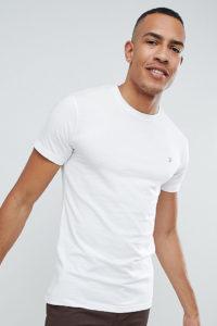 Farah - Farris - Enges Stretch-T-Shirt in Weiß
