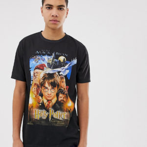ASOS DESIGN Tall – Harry Potter – Bequemes T-Shirt – Schwarz