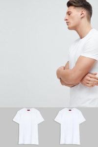 HUGO - 2er-Pack T-Shirts mit Rundhalsausschnitt in Weiß - Weiß - Farbe:Weiß