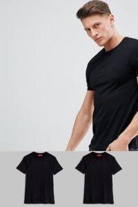 HUGO - 2er Packung schwarze T-Shirts - Schwarz - Farbe:Schwarz