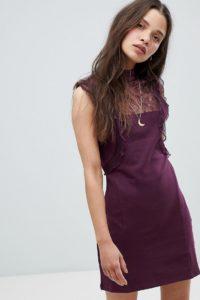 Free People - Beaumont Muse - Kleid mit Spitzenverzierung - Violett - Farbe:Violett