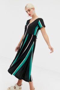 2NDDAY - Nicole - Kleid mit ausgebleichtem Druck und Rüschendetail - Mehrfarbig - Farbe:Mehrfarbig